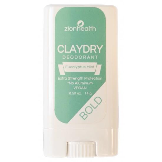 Clay Dry Bold - Eucalyptus Mint Vegan Deodorant Travel Size 0.50 oz. image