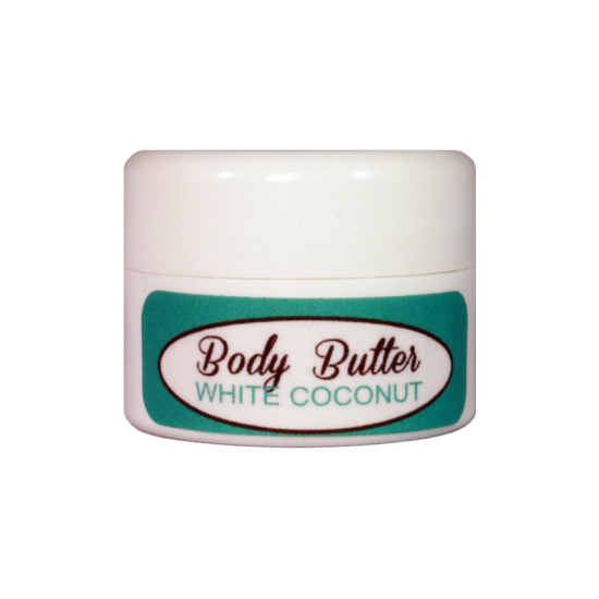 White Coconut Body Butter (Travel size sample) Limit one image