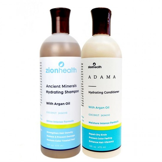 Adama Minerals Color Care Hair Care Package with Argan Oil - Coconut Jasmine image