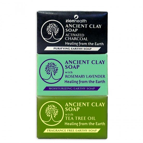 Charcoal + Rosemary Lavender + Tea Tree Clay Soap Bundle - Save $5.47 image