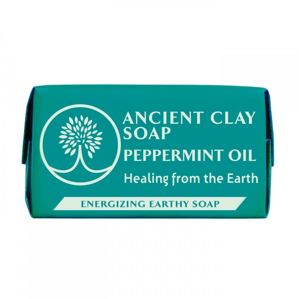 Ancient Clay Natural Soap Peppermint Oil 1 oz.