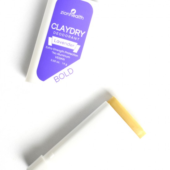 Clay Dry Bold - Lavender Vegan Deodorant Travel Size 0.50 oz image