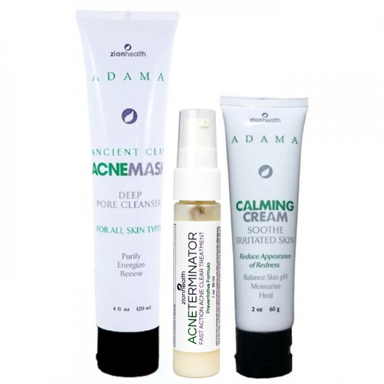 Maskne Care Kit (Acne Mask, Acne Terminator + Calming Cream) image