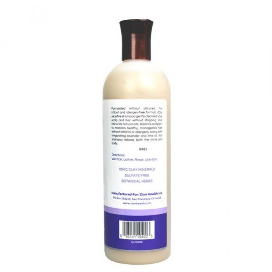 Zion Health Daily Sensitive Shampoo 16oz image