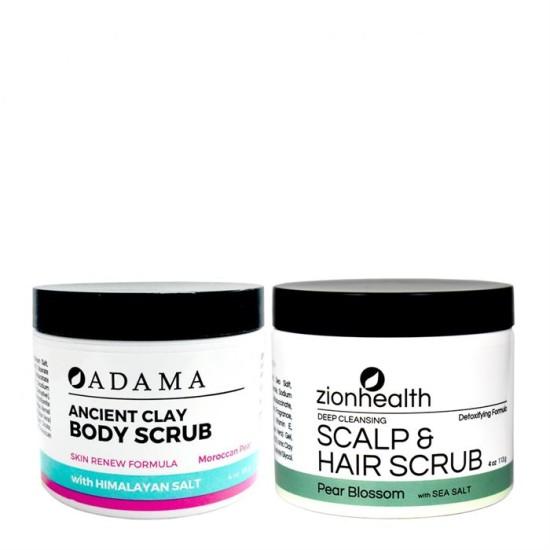 Pear Body + Hair Scrub Bundle image