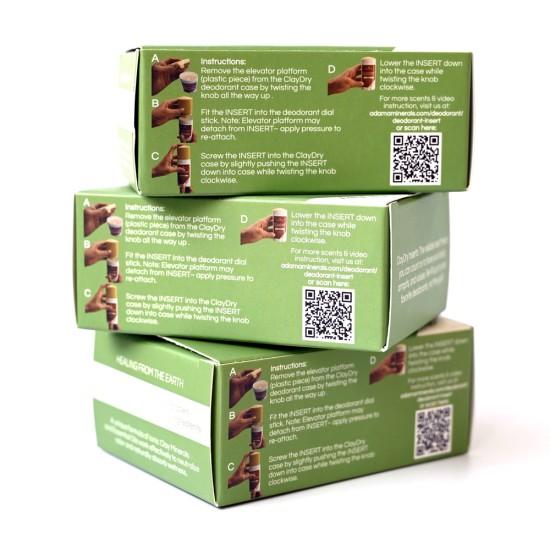 Clay Dry Deodorant INSERT – Bergamot Rose image