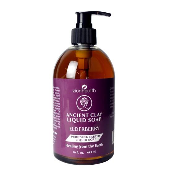 Ancient Clay Liquid Soap Elderberry 16oz image