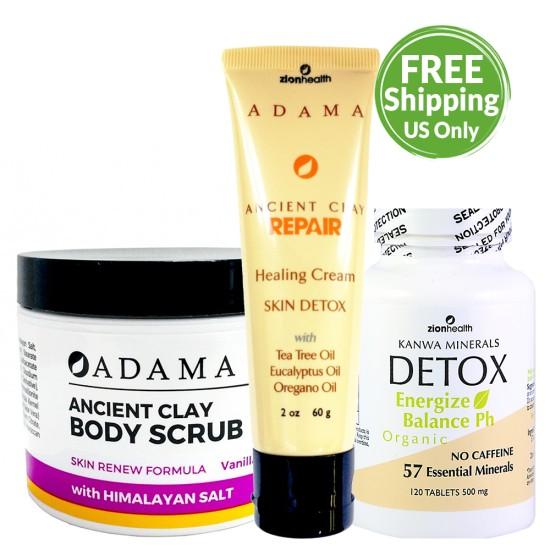 Repair Skincare Kit (Kanwa Tablets 120 + Vanilla Coconut Body Scrub + 2oz Repair Cream) image