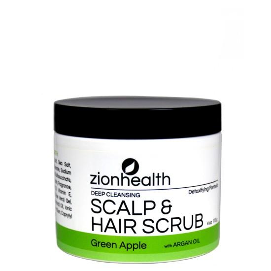 Deep Cleansing Scalp & Hair Scrub Green Apple with Sea Salt image