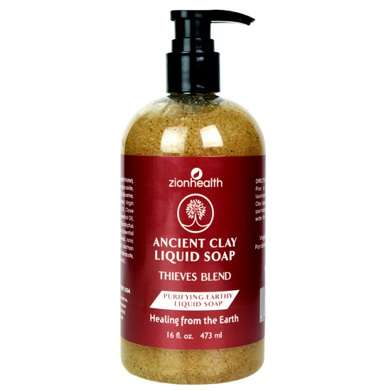 Ancient Clay Liquid Soap Thieves Blend 16oz image