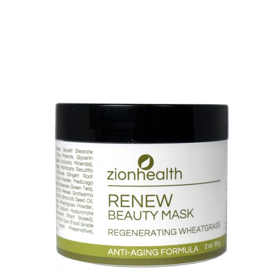 Wheatgrass Face Mask- Renew 2 oz. image