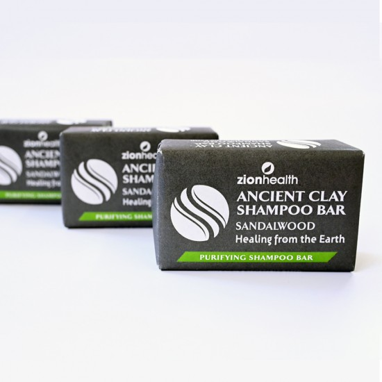 Ancient Clay Shampoo Bar - Sandalwood 6 oz image