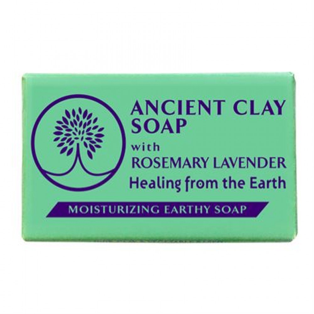 Ancient Clay Soap  -  Rosemary Lavender 6 oz  100% Natural