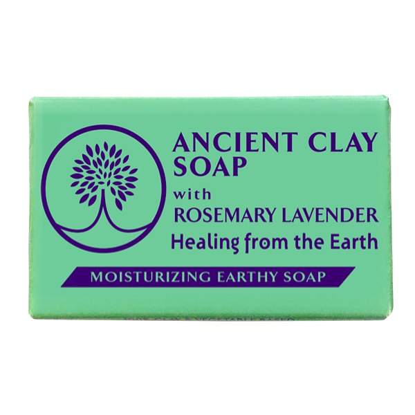 Ancient Clay Soap  -  Rosemary Lavender 6 oz  100% Natural