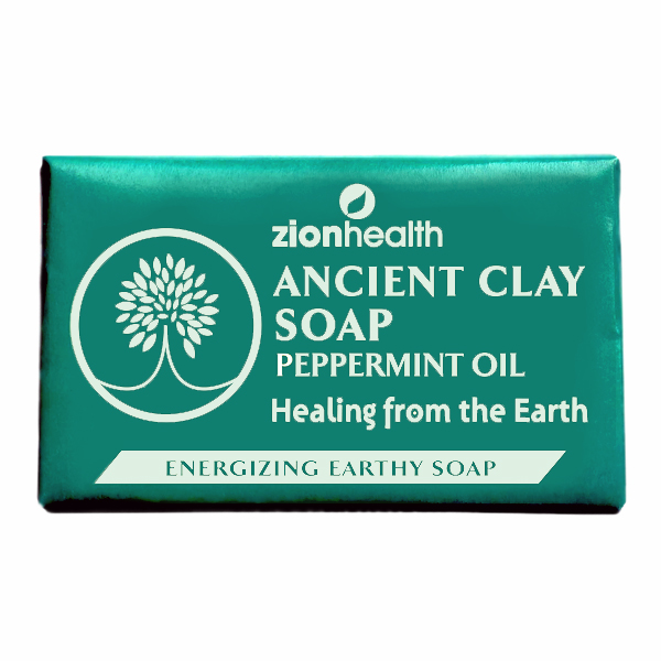 Ancient Clay Natural Soap Peppermint Oil 6 Oz.