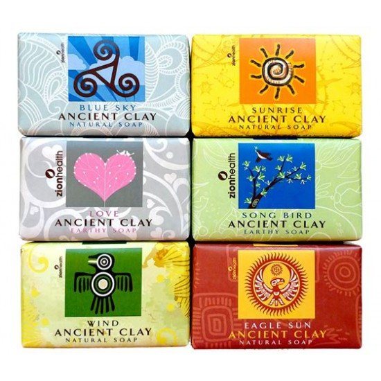 Ancient Clay Soap Gift Bundle  -  Six Pack of Healing Soaps  -  Save $8 (Choose any 6)