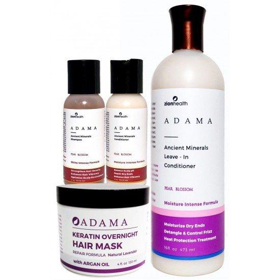 Healthy Hair Regiment Bundle (Original Shampoo 2oz. + Original Conditioner 2oz. + Keratin Natural Lavender 4oz. + Leave-in Conditioner 16oz.) image