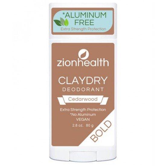 Clay Dry Bold - Cedarwood Vegan Deodorant – 2.8 oz. image