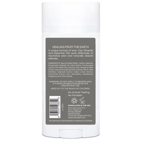 Clay Dry Silk – Sandalwood Vegan Deodorant Unisex 2.8 oz. image