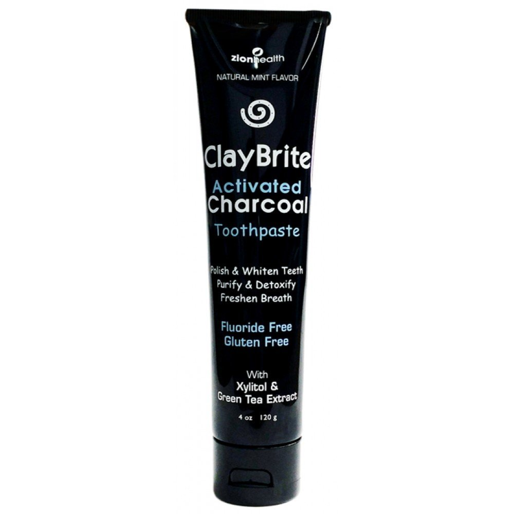 Claybrite Activated Charcoal Toothpaste - 4oz