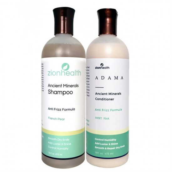 Adama Minerals Anti- Frizz Hair Care Package - Sweet Pear image