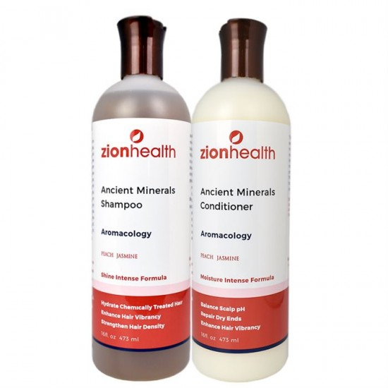 Adama Minerals Aromacology Hair Care Package - Peach Jasmine image
