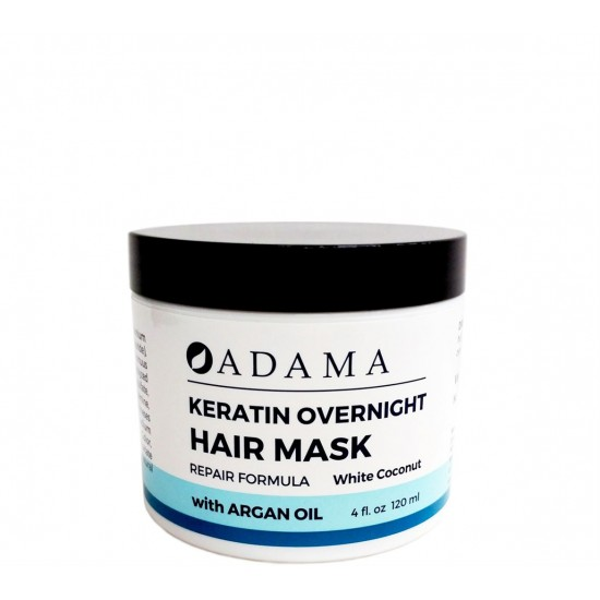 Adama Keratin Hair Mask with Argan Oil - White Coconut Scent image