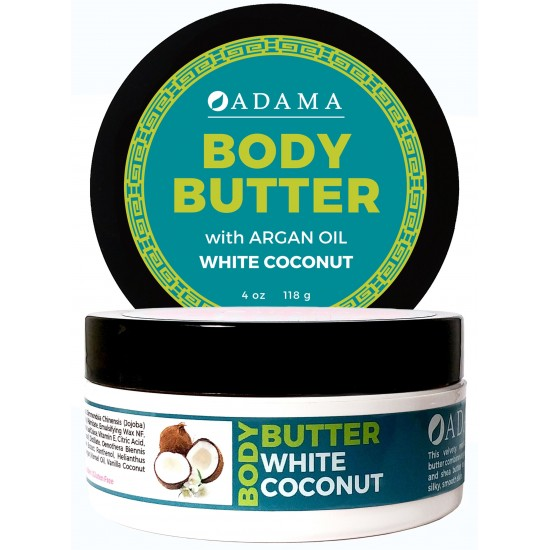Body Butter with Argan Oil - White Coconut image