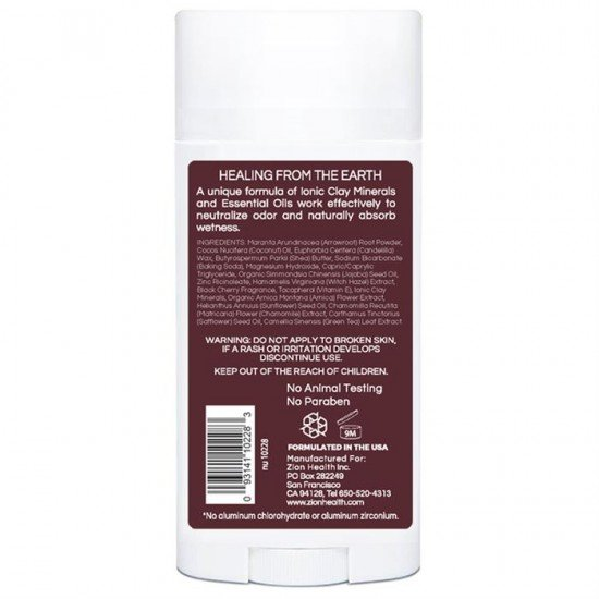 Clay Dry Bold - Black Cherry Vegan Deodorant 2.8oz. image