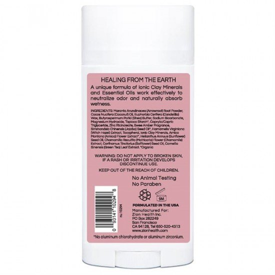 Clay Dry Bold - Sweet Amber Vegan Deodorant 2.8oz. image