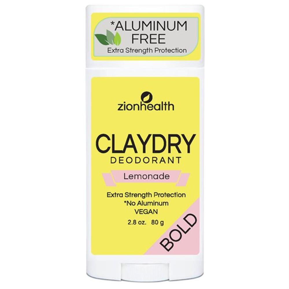Clay Dry Bold – Lemonade Vegan Deodorant – 2.8 oz.