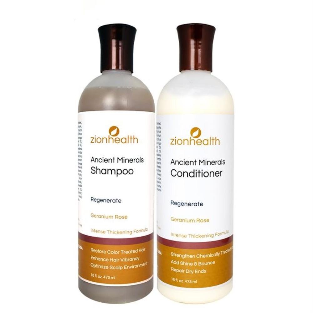 Adama Minerals Regenerate Hair Care Package - Geranium Rose