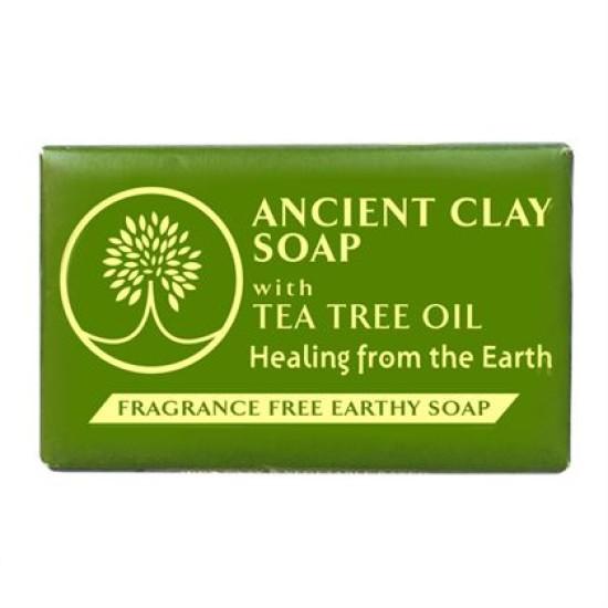 Ancient Clay Soap - Tea Tree Oil 6 oz 100% Natural image