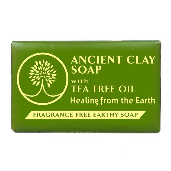 Ancient Clay Soap  -  Tea Tree Oil 6 oz  100% Natural