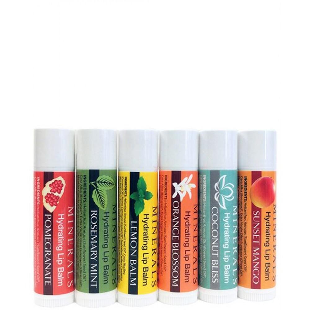 Adama Minerals Hydrating Lip Balm - Six