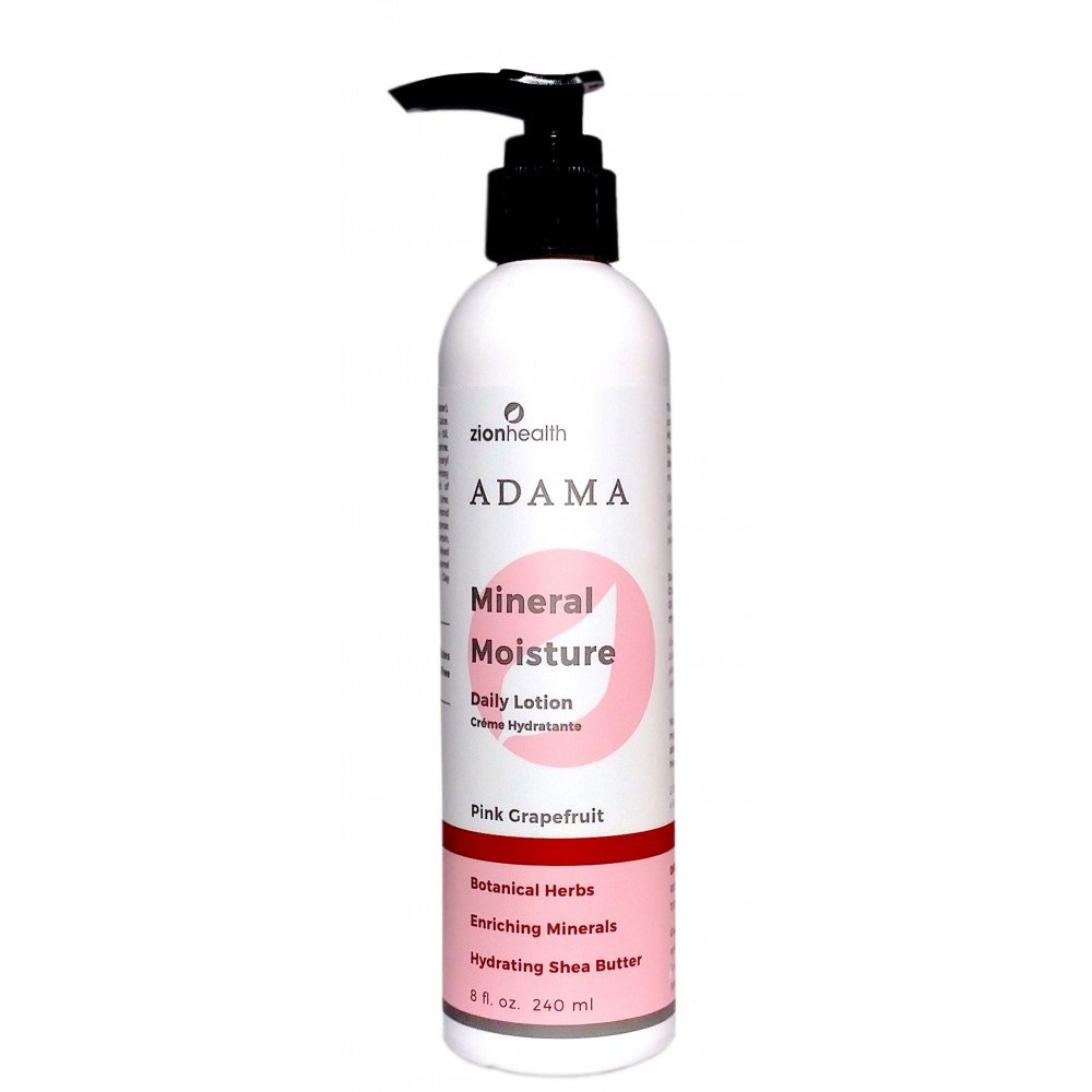 Adama Minerals Moisture Intense Lotion 8oz - Pink Grapefruit - Shea Butter - Body Lotions for Dry Skin