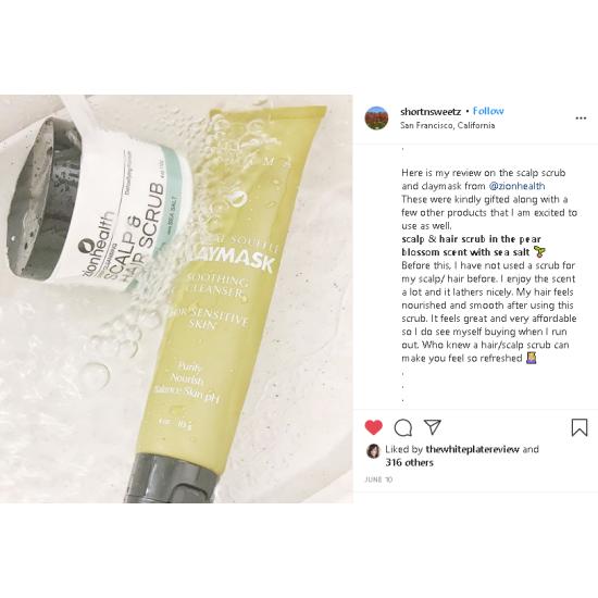 Deep Cleansing Scalp & Hair Scrub Pear Blossom with Sea Salt image