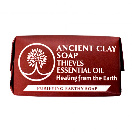 Ancient Clay Natural Soap Thieves Essential Oil 1oz. image