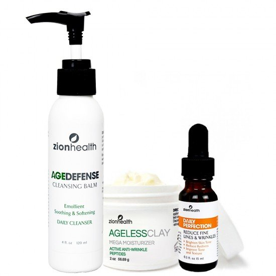 Ultimate Night Time Kit (Age Defense Cleansing Balm + Daily Perfection Serum Oil + Ageless Clay Cream) image
